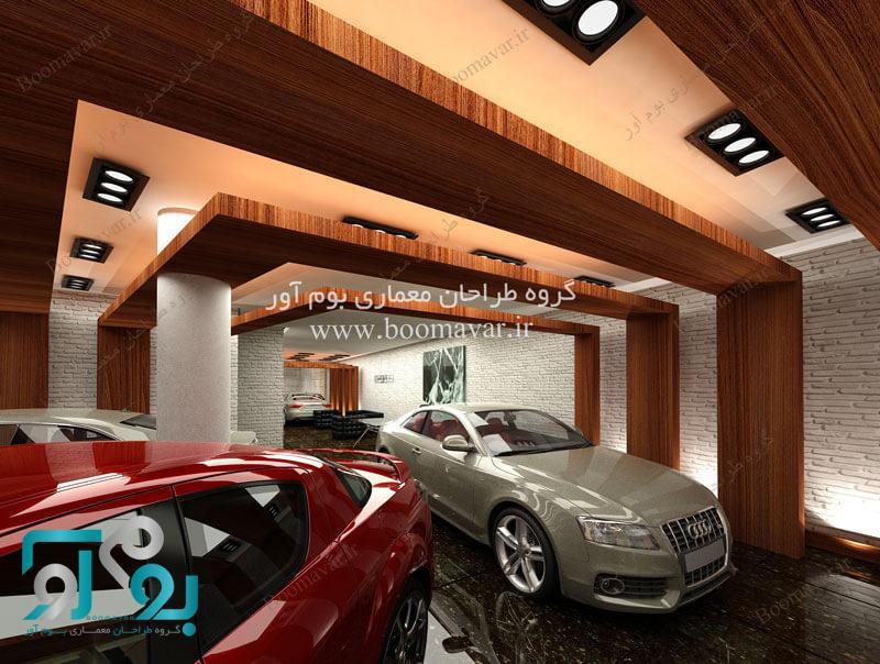 طراحی داخلی نمایشگاه اتومبیل مدرن