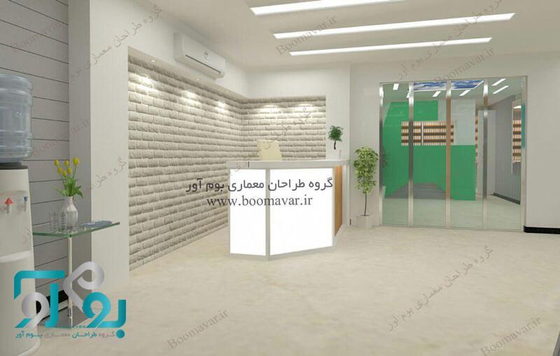 طراحی کانتر منشی درمانگاه