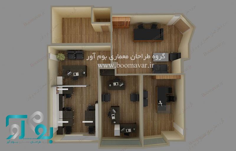 طراحی پلان دفتر کار اداری