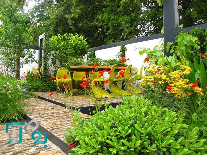 محوطه سازی باغچه حیاط