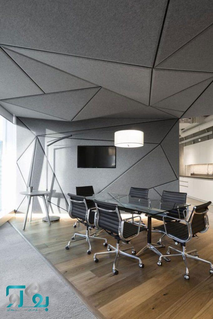 طراحی داخلی دفتر کار شیک