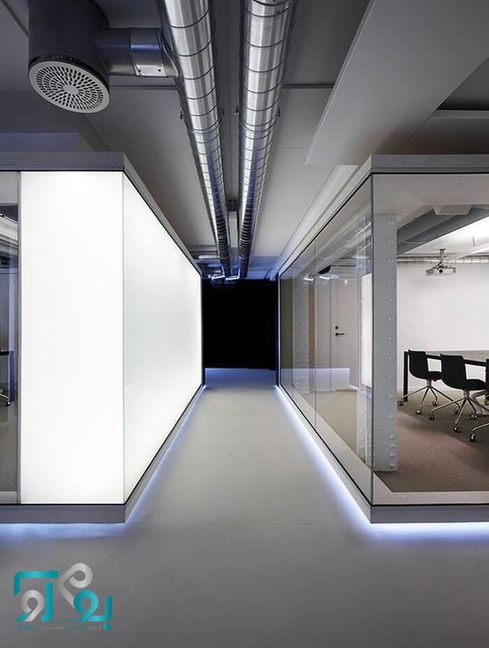 نمونه طراحی دفتر کار مدرن