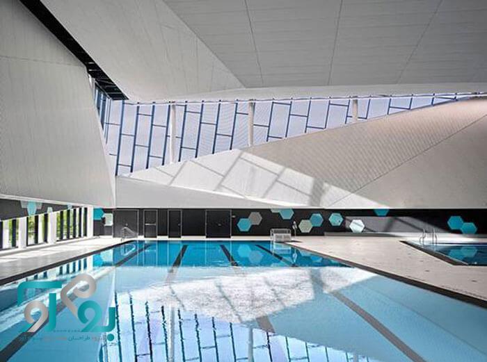 طراحی مجموعه ورزشی و استخر شنا