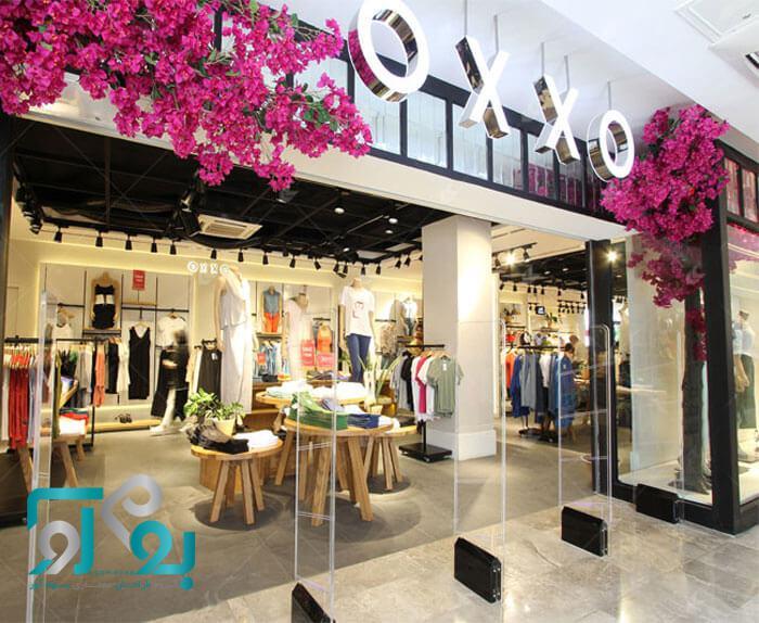 نمونه طراحی ویترین مغازه