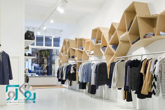 طراحی خاص قفسه های داخل مغازه