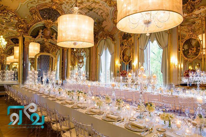 طراحی تالار عروسی و پذیرایی و مهمترین نکات پیرامون طراحی و اجرای آن